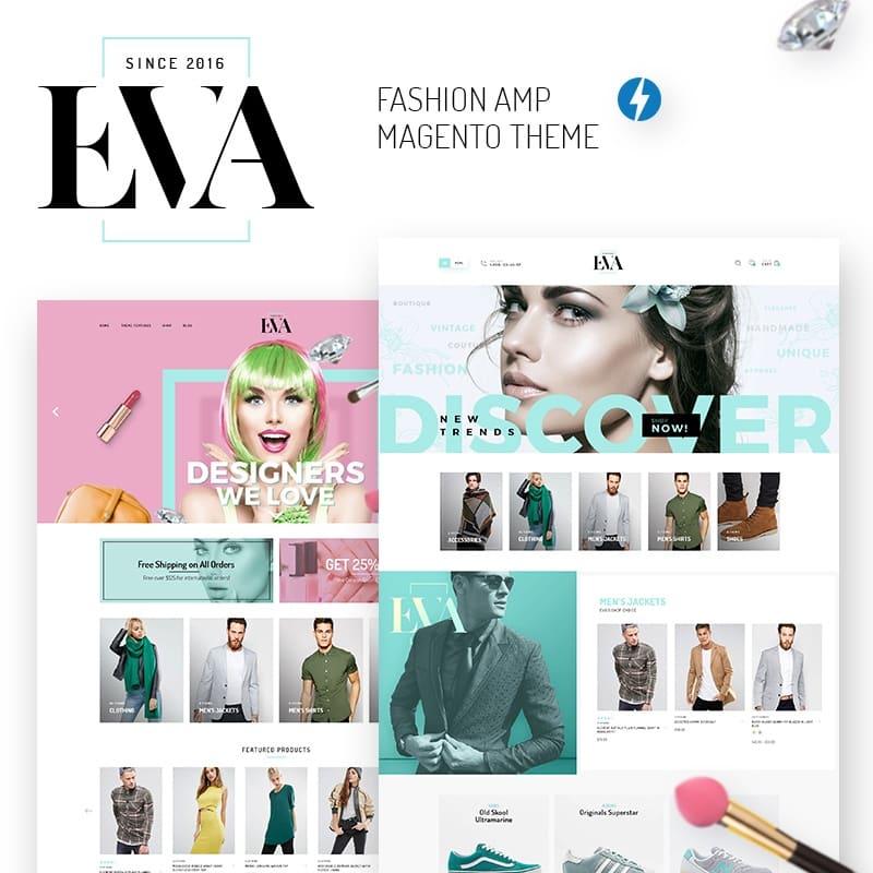 Tema Magento EVA - AMP Fashion Store